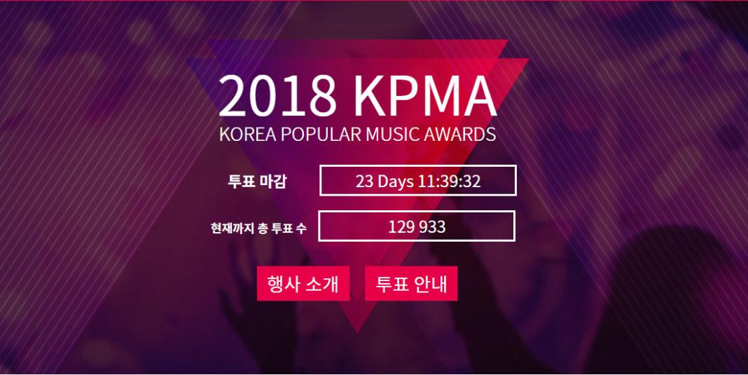 Началось голосование KPMA 2018