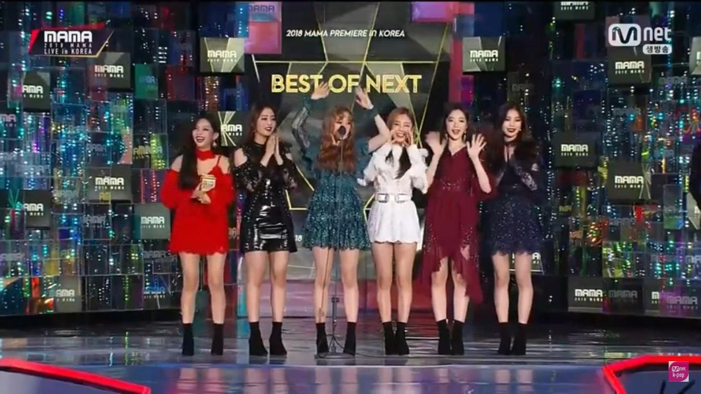 Номинации Best of Next: (G)I-DLE