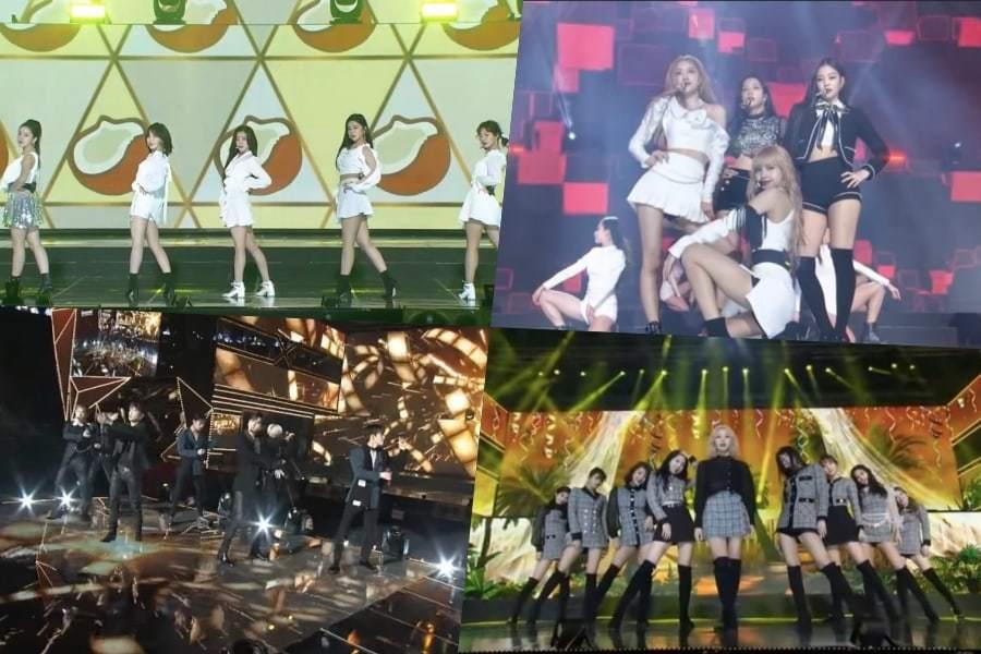 Выступления на Gaon Chart Music Awards
