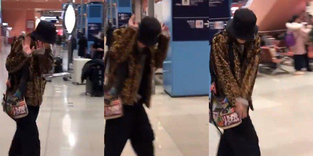 Японские фанаты пародируют BIGBANG в аэропорту
