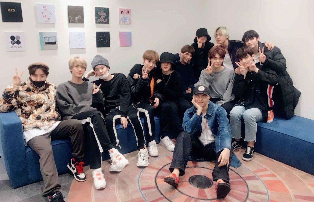 BTS встретились с TXT и тепло поддержали их