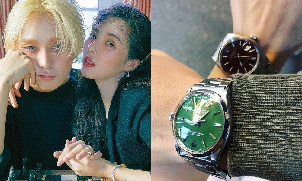 Хёна и Идон хвастают в Instagram новыми часами Rolex