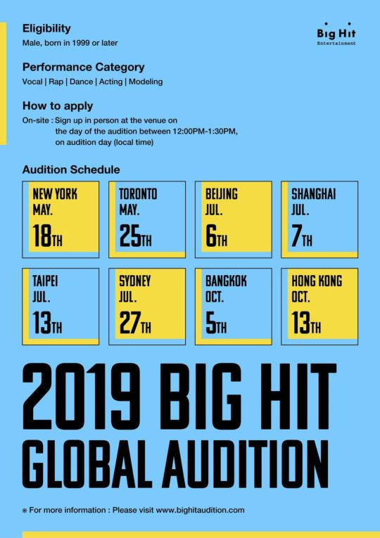 Big Hit Entertainment - Global Auditions
