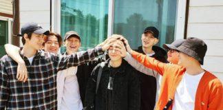 EXO проводили Сюнмина в армию