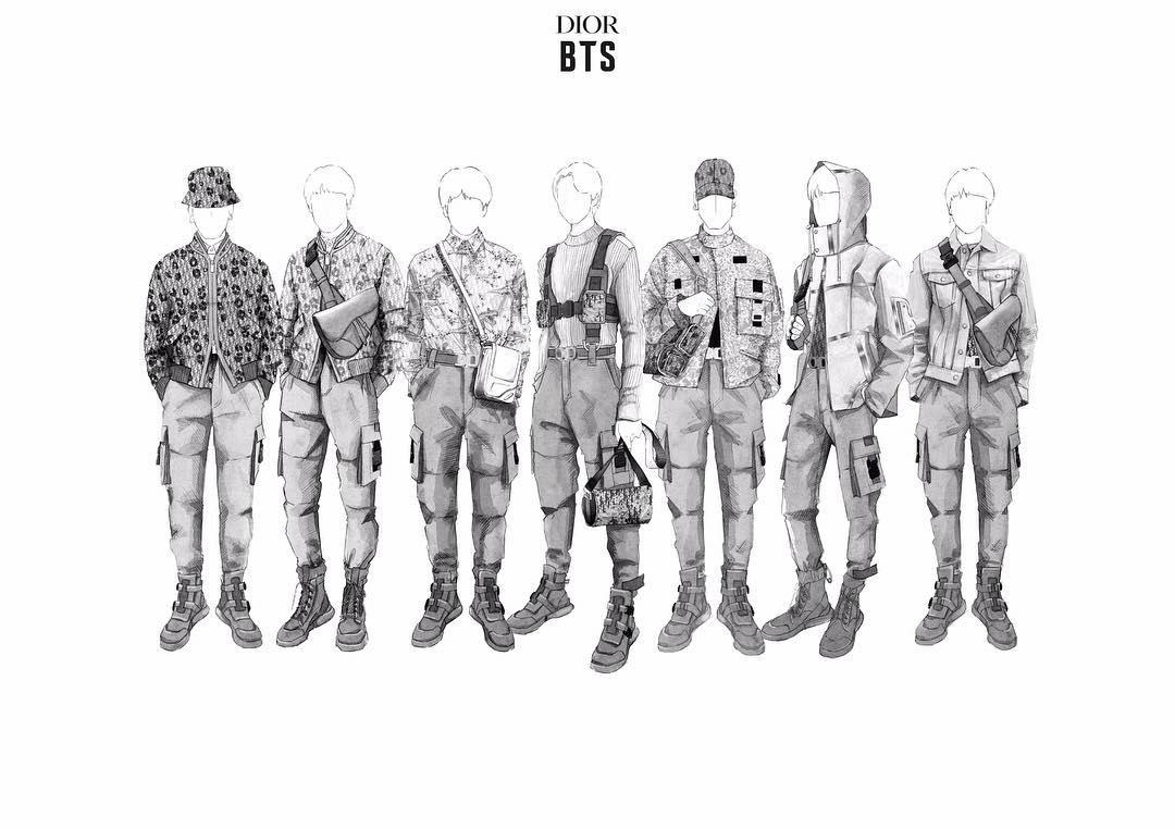 Dior создает сценические наряды для BTS!
