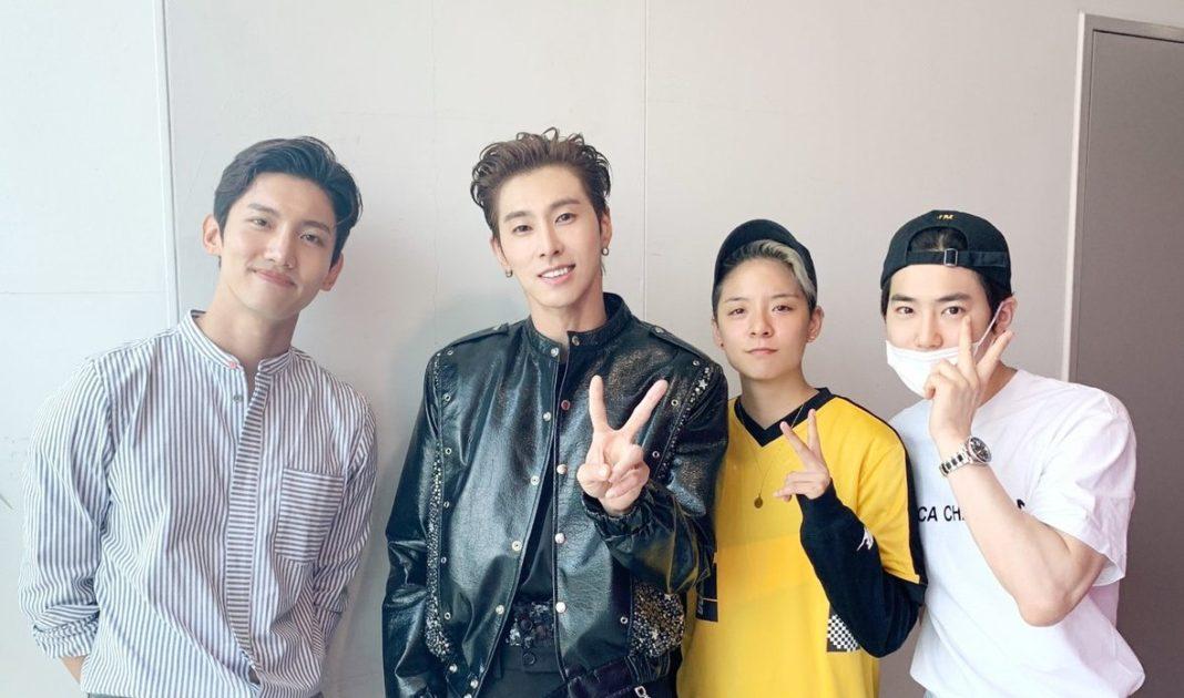 Changmin, Suho, Amber, Yunho