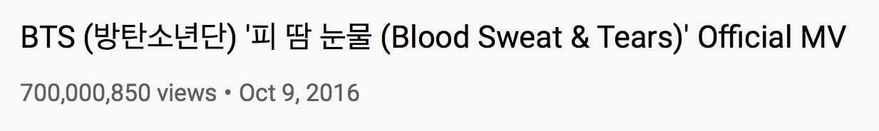 BTS-Blood-Sweat-Tears-MV-Views