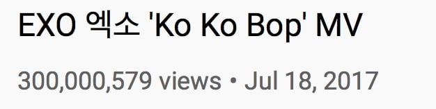EXO-Ko-Ko-Bop-MV-Views