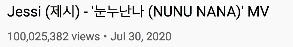 Jessi-NUNU-NANA-MV-Views